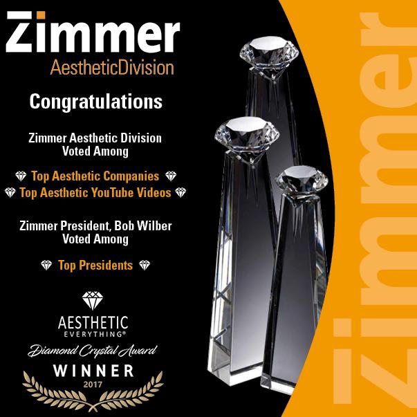 Zimmer Wins Aesthetic Everything Awards 2017