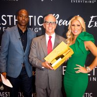 "Busic Accepts For Z Wave: ""Greatest Utility in an Aesthetic Device"" award from Kevin Frazier & Gretchen Rossi"